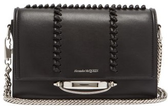 Alexander McQueen The Story Whipstitched Leather Shoulder Bag - Black