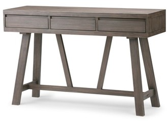 Everly Brooklyn + Max Solid Wood 48 inch Wide Modern Industrial Hallway Console Table in Driftwood
