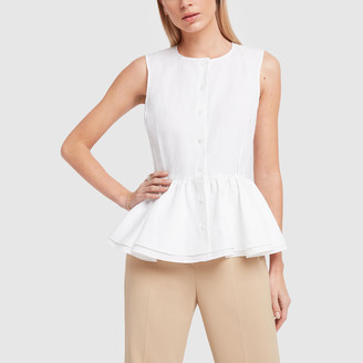 Brock Collection Sleeveless Peplum Top