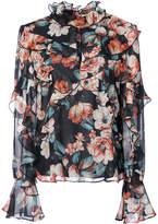 Nicholas Lola ruffled floral-print blouse