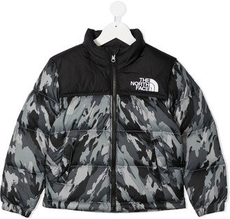 The North Face Kids Camouflage-Print Padded Jacket