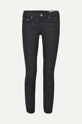 Rag & Bone Dre Mid-rise Slim-leg Jeans - Dark denim