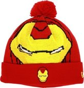 New Era Iron Man Woven Biggie Knit Cap