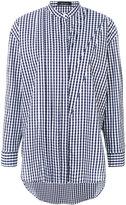 Cédric Charlier mandarin neck checked shirt
