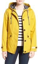 Joules Women's Right As Rain Waterproof Hooded Jacket