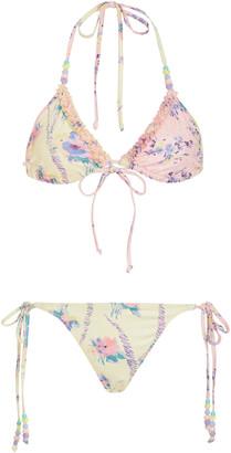 LoveShackFancy Harbor Printed String Bikini Set