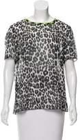 Marc Jacobs Animal Print Short Sleeve Top