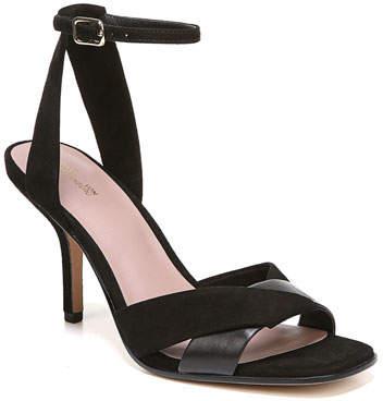 Diane von Furstenberg Fiona Suede/Leather Ankle-Strap Sandal