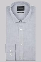 Moss Bros Premium Extra Slim Fit Grey Single Cuff Chambray Shirt