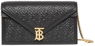 Burberry Small Quilted Monogram TB Envelope Clutch