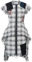 Sonia Rykiel patchwork tweed zipped dress