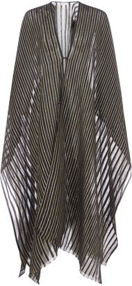 Saint Laurent Striped Sheer Cape