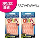Kiss Broadway Fashion Diva Mismatch Manicure 24 Nail Kit, False Nail, Fake Nail, Nails (BHFD01N)