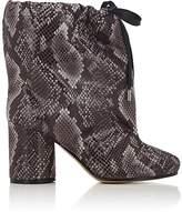 Maison Margiela Women's Snakeskin-Stamped Velveteen Ankle Boots