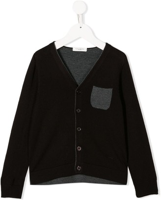 Paolo Pecora Kids Contrast Pocket Cardigan