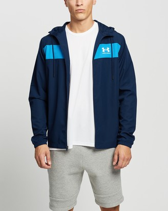 Under Armour Men's Blue Parkas - Sportstyle Windbreaker - Size M at The Iconic