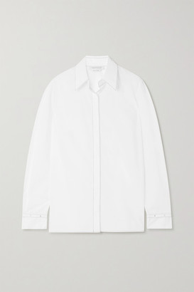 Gabriela Hearst + Net Sustain Cruz Cotton-poplin Shirt - White