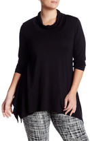 Bobeau Solid Pullover Sweater (Plus)
