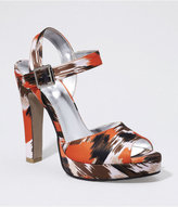 Ikat Print Platform Sandal
