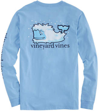 Vineyard Vines Big & Tall Yeti Whale Long-Sleeve Pocket Tee