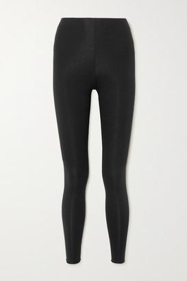 Skin Calypso Stretch Organic Pima Cotton-jersey Leggings - Black