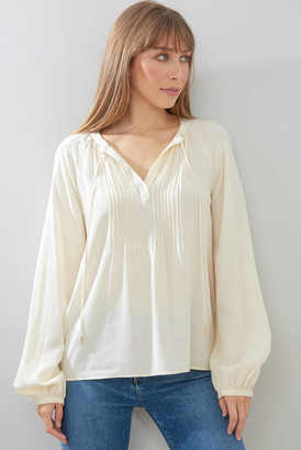 Skies Are Blue Tassel Blouse Ivory XS