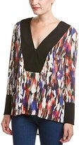 French Connection Women's Record Ripple Drape Printed Top