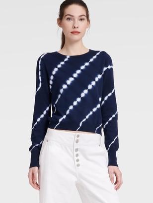 DKNY Women's Tie Dye Sweater - Ink/Ivory - Size XS