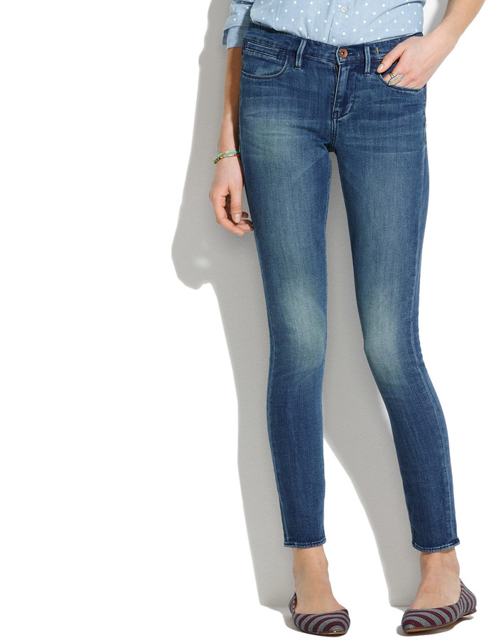 Madewell Skinny Skinny Ankle Jeans in Canister Wash