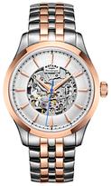 Rotary Mécanique Skeleton Bracelet Strap Watch
