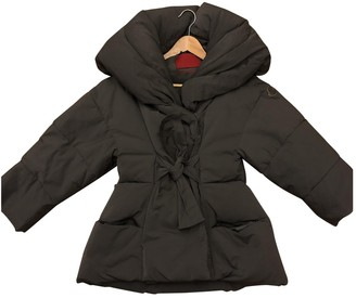 Moncler Gamme Rouge Grey Coat for Women