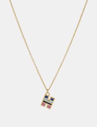 Coach 80'S Retro Alphabet H Charm Necklace