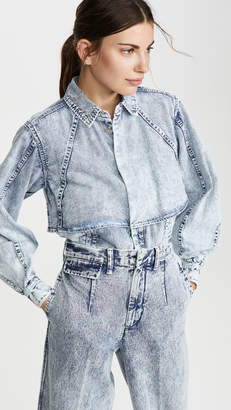 Toga Pulla Bleach Denim Shirt