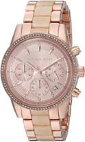 Michael Kors Women's Quartz Stainless Steel Casual Watch, Color:Rose -Toned
