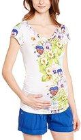 Pietro Brunelli Women's Tunic Floral Short sleeve Maternity T-Shirt - - 6