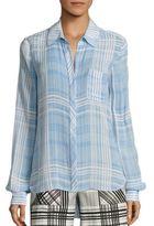 Diane von Furstenberg Carter Plaid Shirt