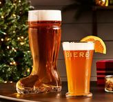 Pottery Barn Beer Boot Glass