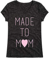 Instant Message Women's Women's Tee Shirts BLACK - Black 'Made To Mom' V-Neck Tee - Women