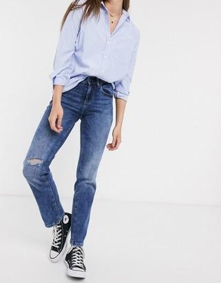 JDY Lauren mid rise straight jeans