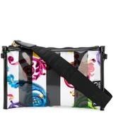Versace striped baroque print crossbody bag