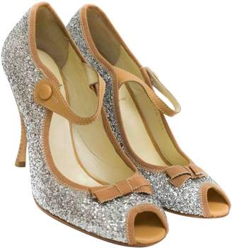 Miu Miu \N Silver Glitter Heels