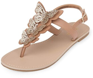 Children's Place The Girls' Butterfly Thong Sandal