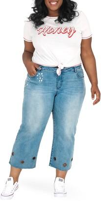 Justice Poetic Janice Grommet Straight Leg Jeans