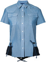Sacai pleated chambray shirt - women - Cotton - 3