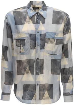 Giorgio Armani Geometric Print Cupro Shirt