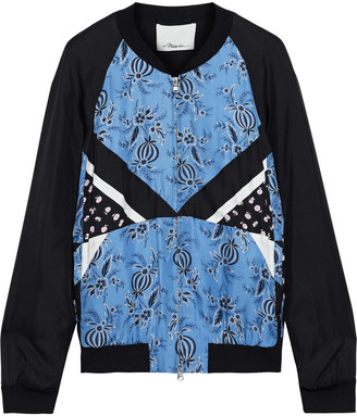 3.1 Phillip Lim Patchwork Floral-print Silk-twill Bomber Jacket