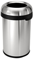 Simplehuman 80 Liter Bullet Open Trash Can in Brushed Stainless Steel