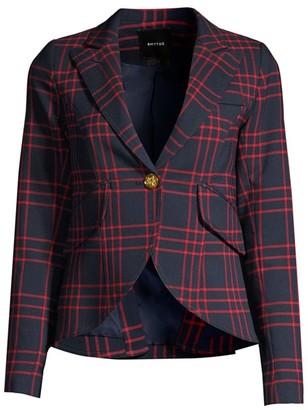 Smythe One-Button Check Blazer