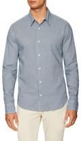 Save Khaki Oxford Cotton Print Sportshirt