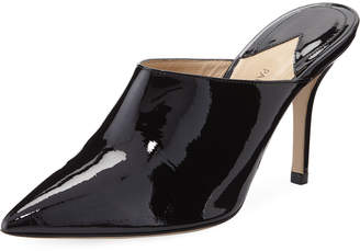 Paul Andrew Certosa Point-Toe Patent Leather Mules